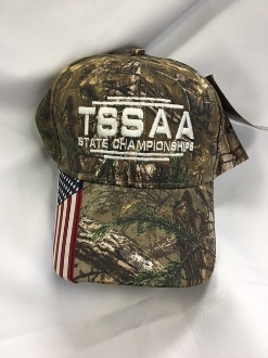 Camo Hat with Flag Accent