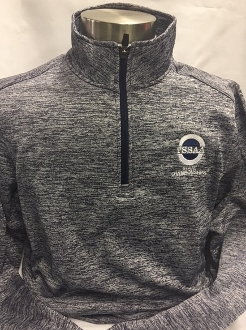 Navy Electric Heather 1/4-Zip Pullover