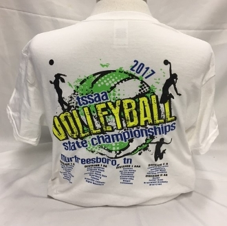 2017 Volleyball White Short Sleeve