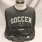 2018 Girls Soccer Grey Long Sleeve