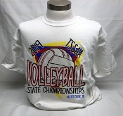 2019 Volleyball White Short Sleeve